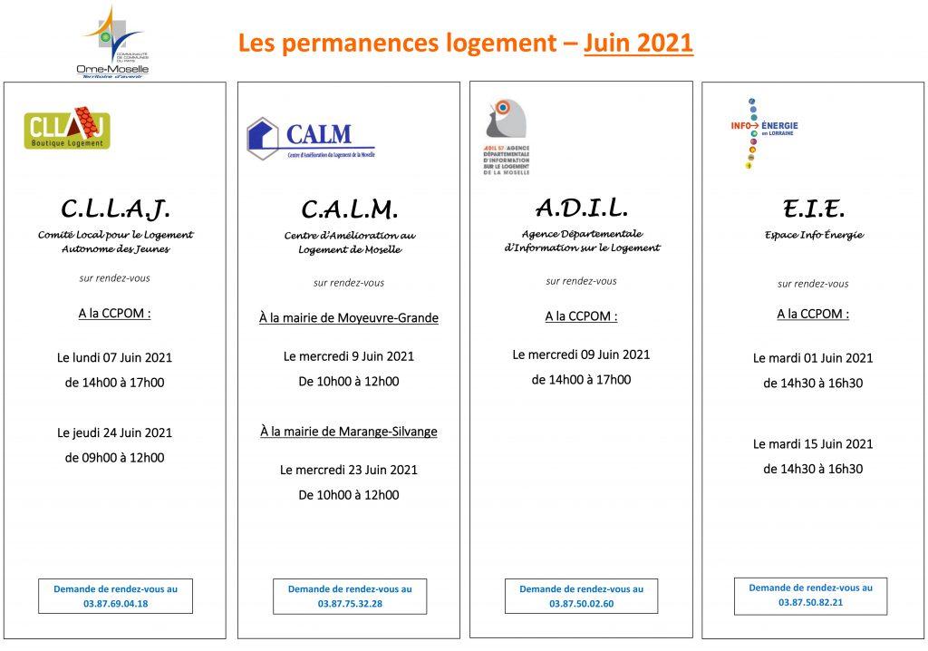 Permanence Juin 2021