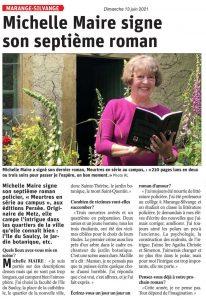 Michelle Maire signe son septième roman