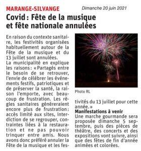 Covid : Fête de la musique et fête nationale annulées