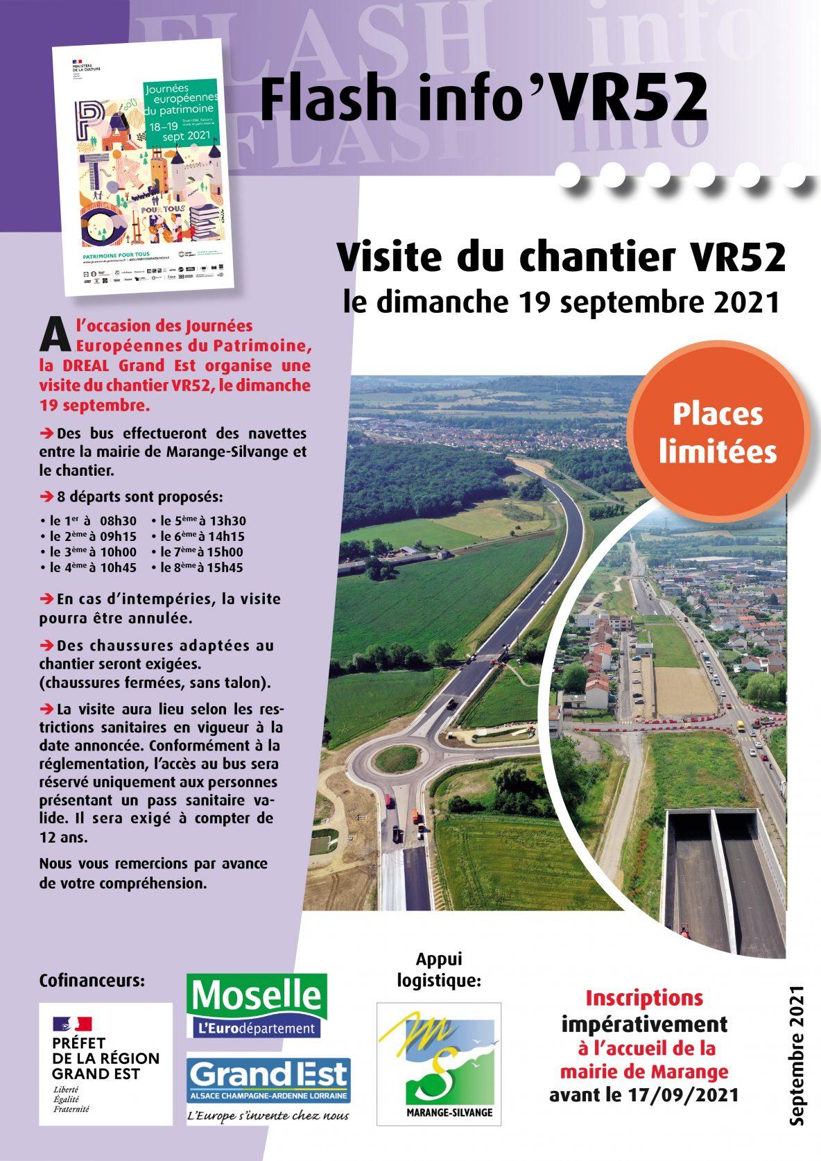 Journée du patrimoine visite chantier VR52