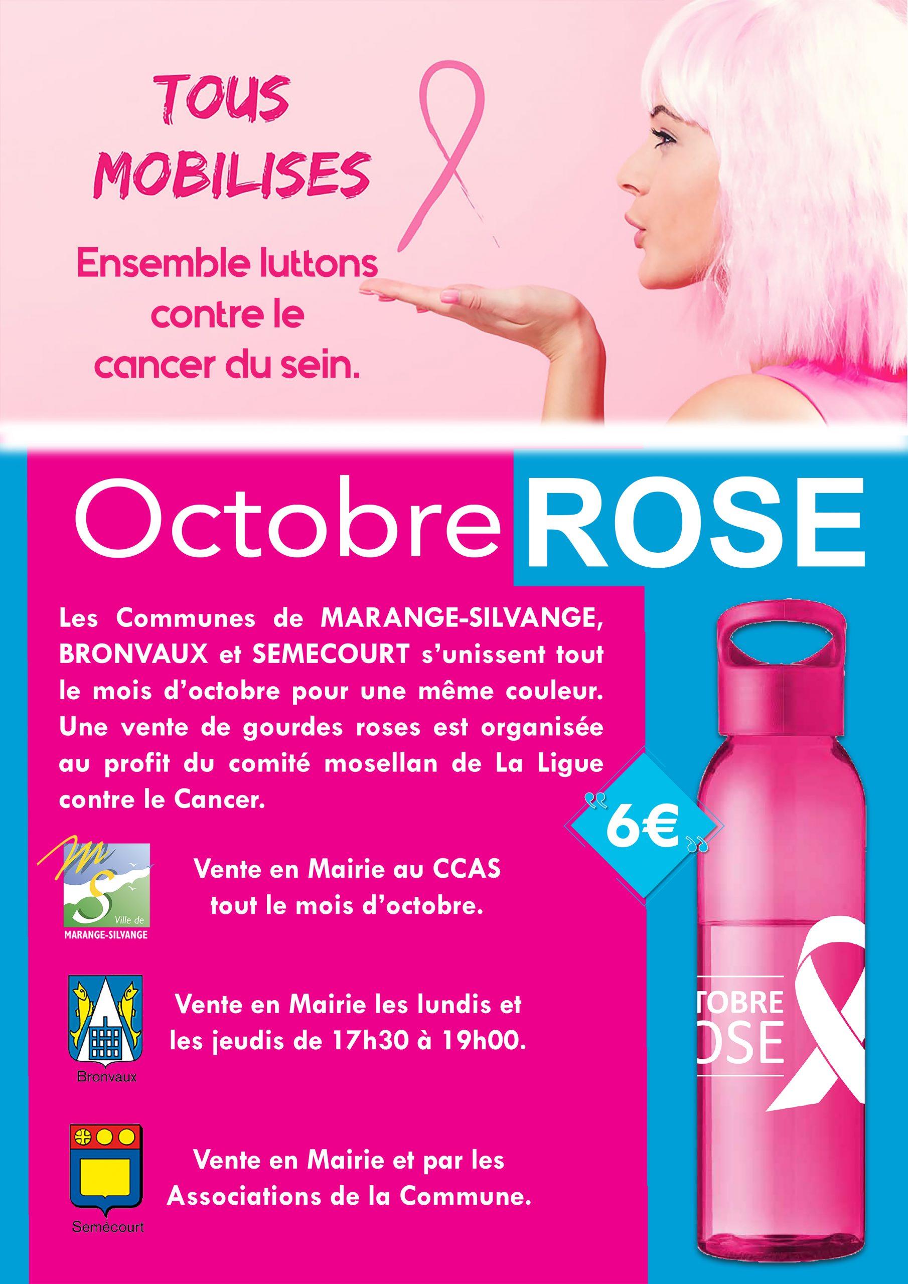 Affiche octobre rose