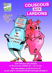 Affiche A4 couscous lardons